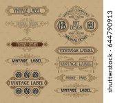 old vintage floral elements  ...   Shutterstock .eps vector #644790913