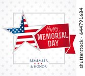happy memorial day vector... | Shutterstock .eps vector #644791684
