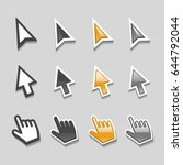 cursors icons mouse hand arrow... | Shutterstock .eps vector #644792044