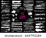 set of different grunge brush... | Shutterstock .eps vector #644793184