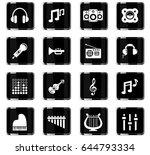 music vector icons for user... | Shutterstock .eps vector #644793334