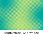 bright green and turquoise pop... | Shutterstock .eps vector #644794420