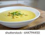 photo of chili corn soup. | Shutterstock . vector #644794450