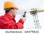 builder worker in uniform and... | Shutterstock . vector #64479823