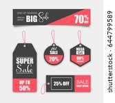 unique sale tags | Shutterstock .eps vector #644799589