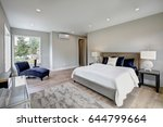 master bedroom interior with... | Shutterstock . vector #644799664