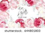vector eau de toilette luxury... | Shutterstock .eps vector #644801803