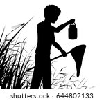 editable vector silhouette of a ... | Shutterstock .eps vector #644802133