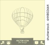 air balloon icon. airship... | Shutterstock .eps vector #644802664