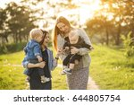 group of mother and son  | Shutterstock . vector #644805754