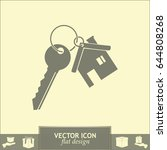 vector illustration keychain... | Shutterstock .eps vector #644808268