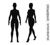 woman silhouettes. vector... | Shutterstock .eps vector #644809060