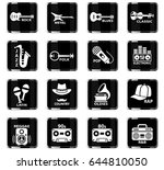 musical genre web icons for... | Shutterstock .eps vector #644810050