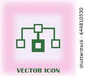 flow chart icon vector.