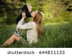 mother and son | Shutterstock . vector #644811133