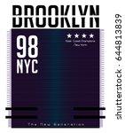 brooklyn typography  t shirt...   Shutterstock .eps vector #644813839