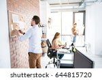 atmosphere for productive work. ... | Shutterstock . vector #644815720