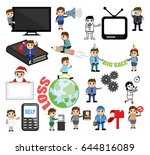 many cartoon concepts vectors | Shutterstock .eps vector #644816089