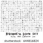 business doodles sketch vector...