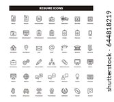 cv   resume outline icons | Shutterstock .eps vector #644818219