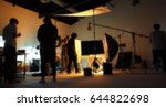 blurred of production team... | Shutterstock . vector #644822698