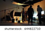 blurred of production team... | Shutterstock . vector #644822710
