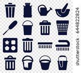 bucket icons set. set of 16... | Shutterstock .eps vector #644822824