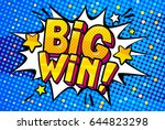 big win message word bubble in... | Shutterstock .eps vector #644823298