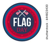 american flag day banner and... | Shutterstock .eps vector #644823430