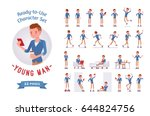 ready to use character set.... | Shutterstock .eps vector #644824756