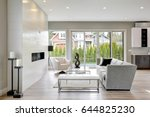 contemporary style living room... | Shutterstock . vector #644825230
