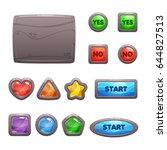 cartoon rocky game assets  the...