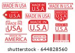 made in america label banner... | Shutterstock .eps vector #644828560