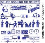online booking air tickets. set ... | Shutterstock . vector #644829844