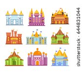 fairy tale castles and... | Shutterstock .eps vector #644831044