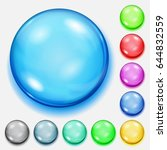 set of colored spheres with... | Shutterstock . vector #644832559