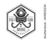 diving underwater sport club... | Shutterstock .eps vector #644833234