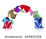 Colorful Clothing Fly Out Of...