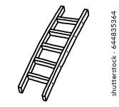 Ladder   Cartoon Vector And...