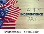 happy fourth of july usa flag | Shutterstock . vector #644836504