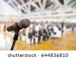 microphone over the blurred... | Shutterstock . vector #644836810