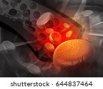 3d render of human  blood cells  | Shutterstock . vector #644837464