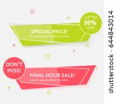 sale web banners template for... | Shutterstock .eps vector #644843014