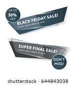 sale web banners template for... | Shutterstock .eps vector #644843038