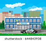 city police station biulding ... | Shutterstock . vector #644843938