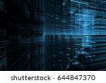 digital technology abstract... | Shutterstock . vector #644847370