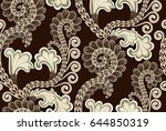 seamless pattern with... | Shutterstock .eps vector #644850319