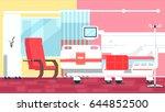 hospital room illustrations | Shutterstock .eps vector #644852500
