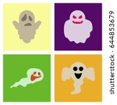 assembly flat icons halloween... | Shutterstock .eps vector #644853679