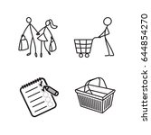 stick figure icons | Shutterstock .eps vector #644854270